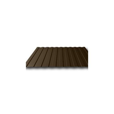 Профнастил (профлист) С8 Эконом коричневый Длина листа: 2м
