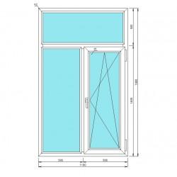 окно металлопластиковое, Т-образное