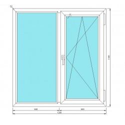 окно металлопластиковое, 2-хстворчатое