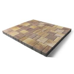 Тротуарная плитка Старый город Ландхаус Color Mix степь, высота 60 мм
