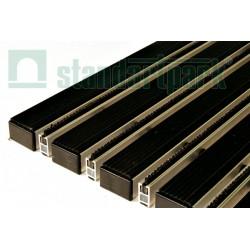 Грязезащитная придверная решетка Сити резина + страйп 600х400 мм
