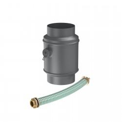Водосборник цилиндрический в комплектеметаллический матовый