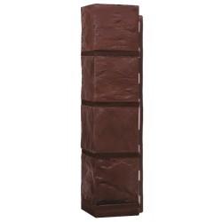 Наружный угол к Фасайдингу Дачный сланец коричневый