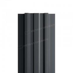 Штакетник металлическийМП LANE-T прямойPE двусторонний 0,45мм