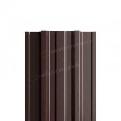 Штакетник металлическийМП TRAPEZE-T прямойPE 0,45мм