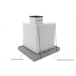 Монтажный комплект для установки погреба (без бетонной плиты)