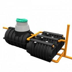 Комплект автономной канализации 'Rostok' Загородная Люкс чёрный