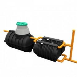 Комплект автономной канализации 'Rostok' Загородная Оптима чёрный