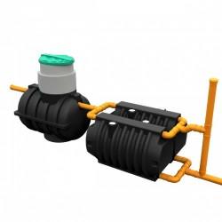Комплект автономной канализации 'Rostok' Дачная чёрный
