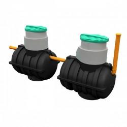 Комплект автономной канализации 'Rostok' Дачная Плюс чёрный