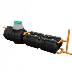 Комплект автономной канализации 'Rostok' Коттеджная Оптима чёрный
