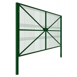 Распашные ворота 4000*2000, каркас 40*20, зашивка панель 3D, столбы 80*80*3000