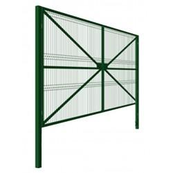 Распашные ворота 4000*2000, каркас 40*20, зашивка панель 3D, столбы 80*80*2000