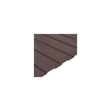 Профнастил (профлист) С8 коричневый двусторонний Длина листа: 2м