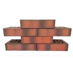 Клинкер фасадный 0,54 НФ красный флэшинг (образец N18) с40223