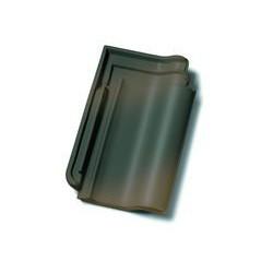 F15 Рядовая черепица  черно-коричневый рустикальный ангоб