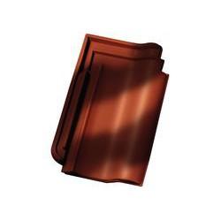 F15 Рядовая черепица красно-коричневый рустикальный ангоб