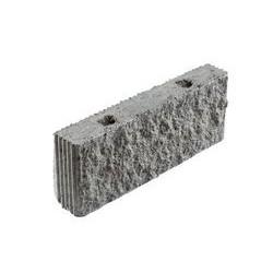 Стеновой фасадный бетонный блок СКЦ 2Л-11 рядовой с колотой/рифленой фактурой