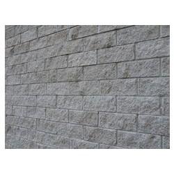 Стеновой фасадный бетонный блок СКЦ 2Л-9 рядовой (серый)