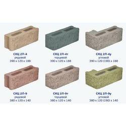 Стеновой фасадный бетонный блок СКЦ 2Л-9 рядовой (цельноокрашенный)