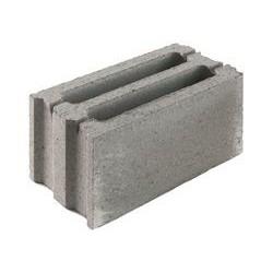 Стеновой бетонный блок СКЦК 1Р-2 рядовой пазогребневый керамзитобетонный  (межквартирные перегородки, стены)