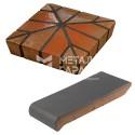 Керамические подоконники, колпаки для ограждений, профильный кирпич